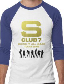 S Club 7 Bring It All Back Tour 2015 Men's Baseball ¾ T-Shirt