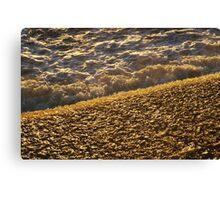 Golden water Canvas Print