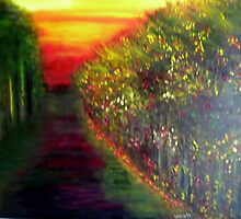 Quiet Lane in Greece by Christianna