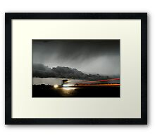Storm Truckers Framed Print