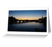 Stockholm sunset Greeting Card