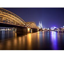 Hohenzollern Brucke and Cologne Cathedral Photographic Print