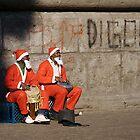 Santas by bluecoomassie