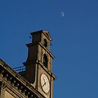 Naples and the moon by bluecoomassie