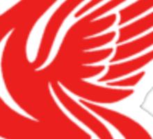 Christmas liver bird - red Sticker