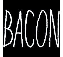 Bacon (White) Photographic Print