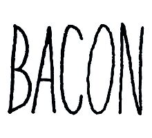 Bacon (Black) Photographic Print