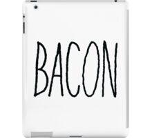 Bacon (Black) iPad Case/Skin