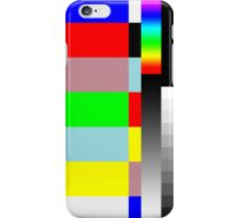 HD SMPTE TV Test Run iPhone Case/Skin