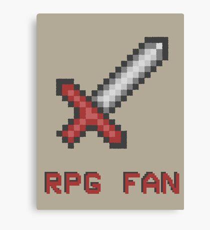 RPG FAN Sword Canvas Print