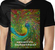 Creative Individual Mens V-Neck T-Shirt