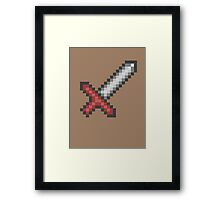 """Sword"" retro shirt Framed Print"