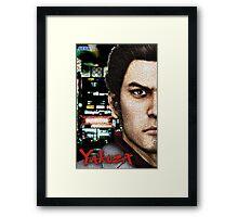 Kazuma Kiryu - Mosaic Framed Print