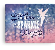 Leave a Little Sparkle Wherever You Go Canvas Print