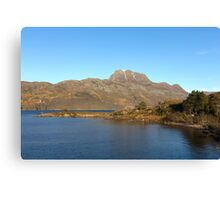Slioch and Loch Maree Wester Ross Scotland Canvas Print