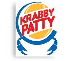 Krabby Patty Canvas Print