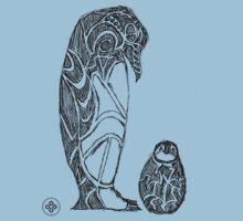 emperor penguin sketch One Piece - Short Sleeve