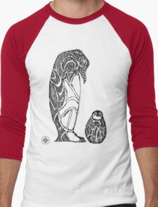 emperor penguin sketch Men's Baseball ¾ T-Shirt