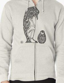 emperor penguin sketch Zipped Hoodie