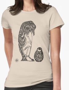 emperor penguin sketch Womens Fitted T-Shirt