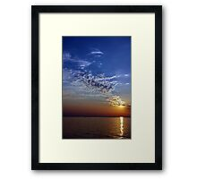 Serenity in the Sunset Framed Print