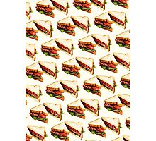 BLT Sandwich Pattern Photographic Print