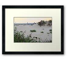 Sand dune overlooking the sea Framed Print