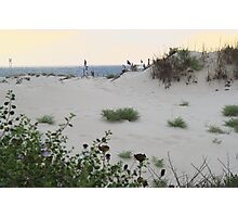 Sand dune overlooking the sea Photographic Print