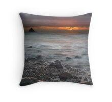 Prehistoric Sunset Throw Pillow