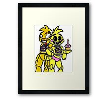 FNAF - Chica and Chica Framed Print