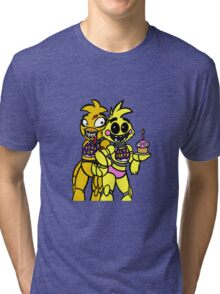 FNAF - Chica and Chica Tri-blend T-Shirt