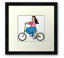 Niña en bicicleta Framed Print