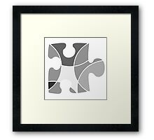 Grey puzzle piece Framed Print