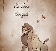 The Lion King inspired valentine. by topshelf