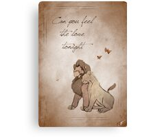 The Lion King inspired valentine. Canvas Print