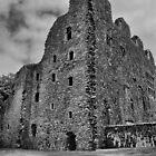 oxwich castle bw by zacco