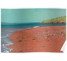 red dirt beach Poster