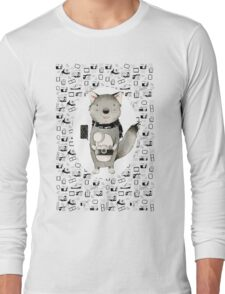 Wolf With Camera Long Sleeve T-Shirt