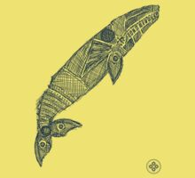 gray whale sketch Kids Tee