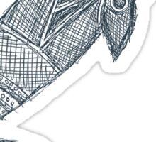 gray whale sketch Sticker