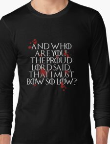 And who are you? (White) Long Sleeve T-Shirt