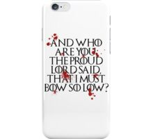 And who are you? (Black) iPhone Case/Skin