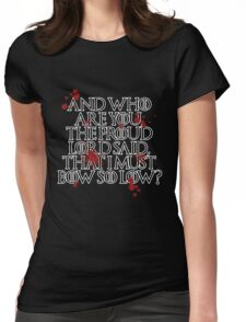 And who are you? (Black) Womens Fitted T-Shirt