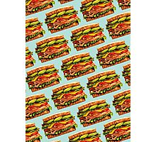 Turkey Bacon Avocado Sandwich Pattern Photographic Print