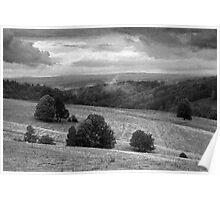 Landscape around Libverda Spa, Czech Republic Poster