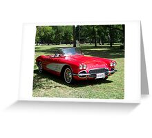 1960 Classic Corvette Greeting Card