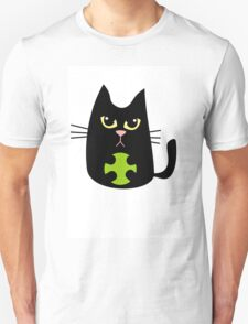 Black cat playing Unisex T-Shirt