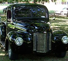 Classic Black Truck by Glenna Walker