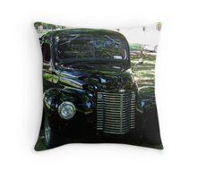 Classic Black Truck Throw Pillow