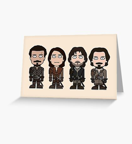 The Musketeers (card) Greeting Card